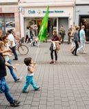 Свобода для протеста Abdullah Ocalan на улице страсбурга Стоковое Изображение RF