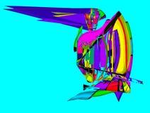Свободная абстрактная яхта стоковое изображение