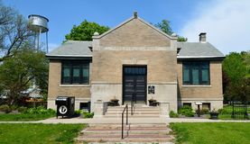 Свободная публичная библиотека Стоковая Фотография