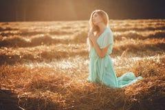 свободная счастливая женщина Стоковое фото RF