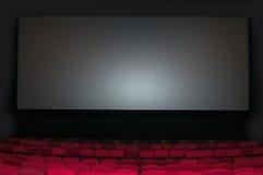 Свободное место на строке в thearter с киноэкраном Стоковое Изображение RF