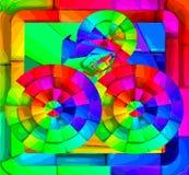 Свободные абстрактные квадраты стоковые фото