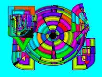 Свободные абстрактные круги стоковое фото