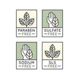 Свободные органические стикеры продукта Стоковое фото RF