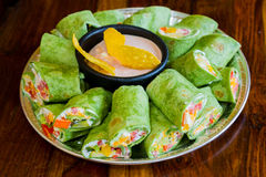 Свободные от Клейковин вегетарианские обручи Veggie Стоковое Фото