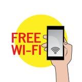 Свободный знак Wi-Fi иллюстрация вектора