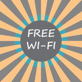 Свободный значок текста wifi на предпосылке sunburst Стоковое Изображение