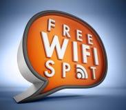 Свободный значок WiFi Стоковое фото RF