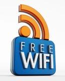 Свободный значок WiFi Стоковое Изображение