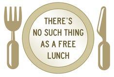 свободный обед иллюстрация штока