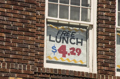 свободный обед Стоковое Изображение RF