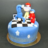 Свободный торт помадки танцоров стиля Стоковое фото RF
