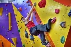 Свободный человек альпиниста Стоковые Изображения RF