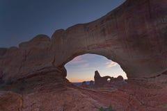 Своды Windows в сводах национальном парке, Юте Стоковое фото RF