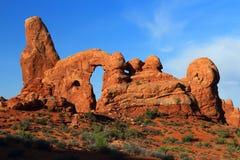 Свод башенки в свете утра, сводах национальном парке, Юте стоковые изображения