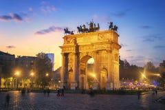 Свод мира - Милан, Италия стоковые изображения