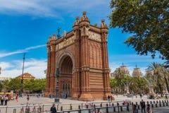 Свод триумфа Arco del Triunfo Барселоны, Испания - 14-ое мая 2018 стоковая фотография rf