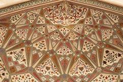 свод украсил mughal стоковая фотография rf
