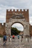 Свод Augustus в Римини, Италии стоковые изображения rf
