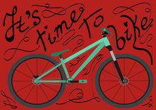Свое время велосипед Изолированный велосипед с текстом Стоковая Фотография RF