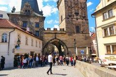 Свод башни в Праге Стоковое Изображение