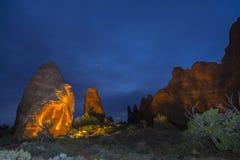 Свод горизонта на ноче Moab Юте стоковое фото