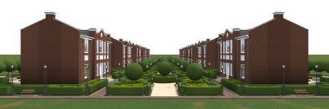 Сводный план деревни Стоковая Фотография