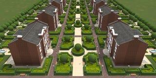 Сводный план деревни Стоковые Изображения RF
