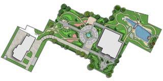 Сводный план резиденции, отрезка перевода вне 2d Стоковое Фото