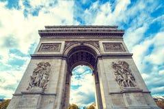 Свод триумфа, Париж Стоковые Изображения