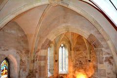 Своды в Hunedoara рокируют, вызванный замком Corvin в Transilvania Стоковые Изображения