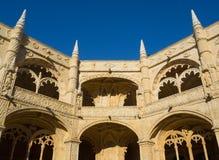 Своды в nimos монастыре ³ JerÃ, Belem, Лиссабоне, Португалии Стоковые Изображения RF