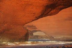 Своды камня Legzira, Атлантический океан, Марокко Стоковая Фотография