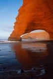 Своды камня Legzira, Атлантический океан, Марокко Стоковая Фотография RF
