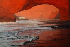 Своды камня Legzira, Атлантический океан, Марокко Стоковые Фотографии RF