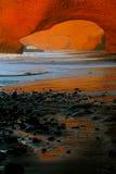 Своды камня Legzira, Атлантический океан, Марокко Стоковые Фото