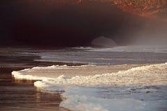Своды камня Legzira, Атлантический океан, Марокко Стоковое фото RF