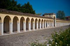 Своды на dei Capuccini Loggiato в Comacchio Стоковые Фотографии RF