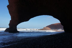Своды песчаника Legzira Стоковая Фотография RF