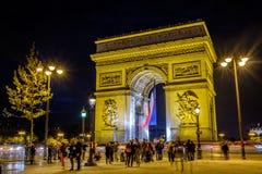 Свод de Triomphe, Париж, Франция Стоковая Фотография RF
