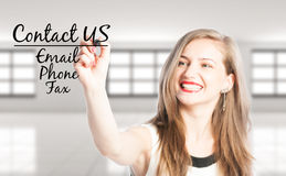 Свяжитесь мы используя электронную почту, телефон или факс Стоковое Изображение RF
