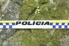 Свяжите полицию тесьмой стоковое изображение rf