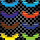 Свяжите другие цвета тесьмой Стоковые Изображения RF