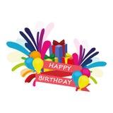 Свяжите тесьмой с днем рождения Стоковое фото RF