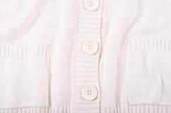 Связанная белая текстура jersey Стоковое Изображение