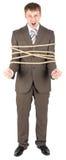 связанная веревочка бизнесмена Стоковое Изображение RF