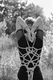 связанная женщина Стоковое Фото