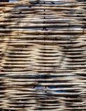 Связанная загородка сделанная естественным материалом стоковое фото rf
