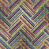связанная картина безшовная Пестротканый повторяя племенной шаблон Стоковые Фотографии RF