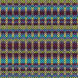 связанная картина безшовная Пестротканый повторяя племенной шаблон Стоковые Изображения RF